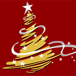 Stylized Christmas tree design
