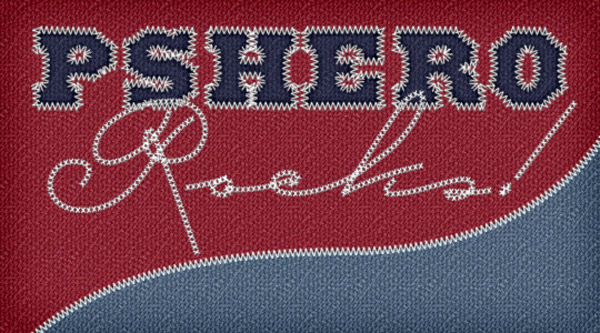 Text in stitches effect