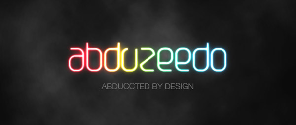 Shiny neon text effect