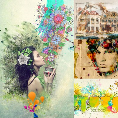 15 Artistic Watercolor Effects Photoshop Tutorials