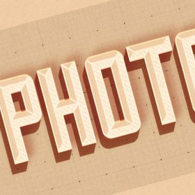 Photoshop hipster text effect