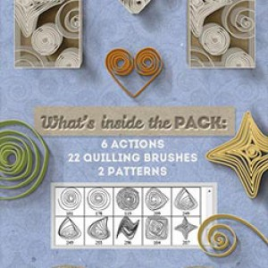 Download a Colorful Quilling Paper Art Premium Photoshop Action