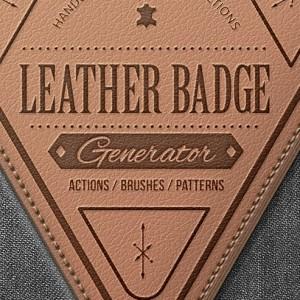 Beautiful Leather Badge Generator Premium Photoshop Actions