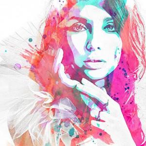 Watercolor and pencil premium Photoshop Action