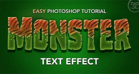 Monster themed text effect in Photoshop