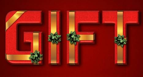 Create a Wrapped Gift Box Text Effect in Photoshop