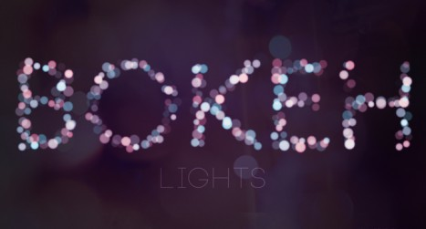 Simple Bokeh Text Effect in Photoshop