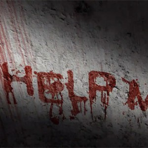 Scary Blood Text Effect With Wall Scrawled with Blood