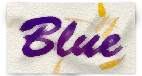 Watercolor Text Painted on a Wet Paper