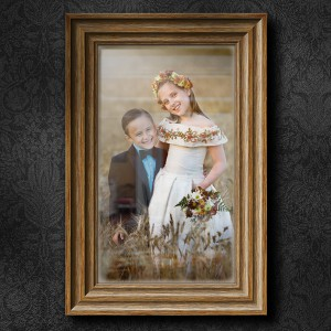 How to Illustrate a Wooden Frame on a Wall Scene