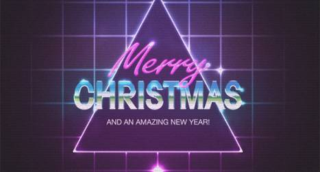 Create Retro 80s Christmas Artwork in Photoshop