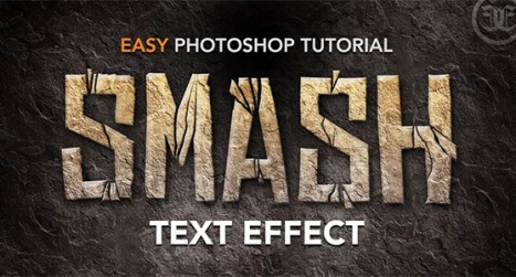 Smashed Rock Text Effect