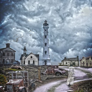 Create a Ghost Town Photomanipulation Scene in Photoshop