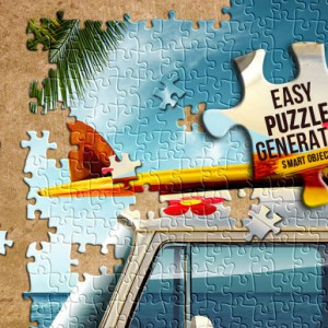 Download a Colorful Puzzle Generator Premium Photoshop Action