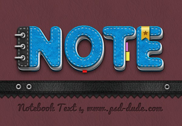 notebook-text-photoshop-tutorial