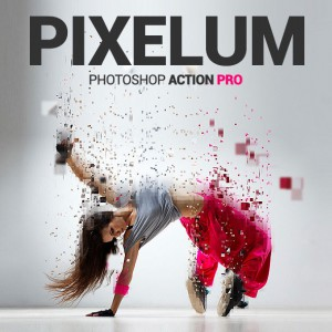 Download Stunningly Techno Pixelium Premium Photoshop Action