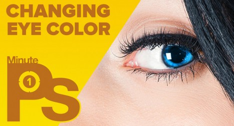 How to Change Eye Color in 1 Minute in Photoshop! #MinutePhotoshop