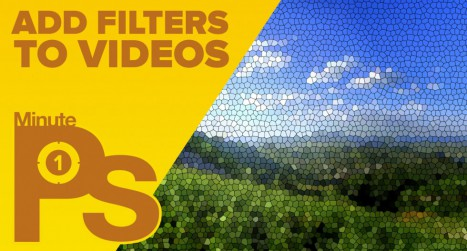 How to Add Filters to Videos in Photoshop #MinutePhotoshop