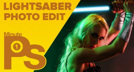 How to Create a LIGHTSABER in Photoshop #MinutePhotoshop