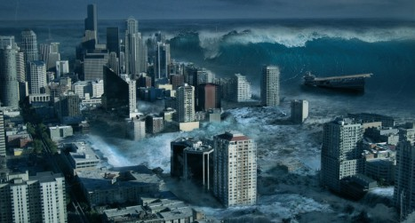 Create a city flooded by a tsunami in Photoshop