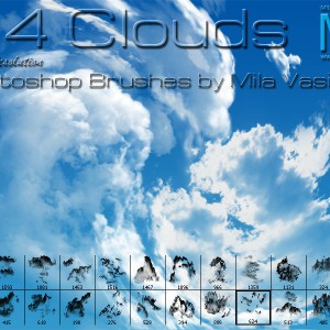 24 Clouds Photoshop Brushes