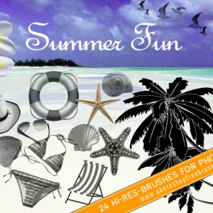 24 Free Summer Fun Photoshop Brushes