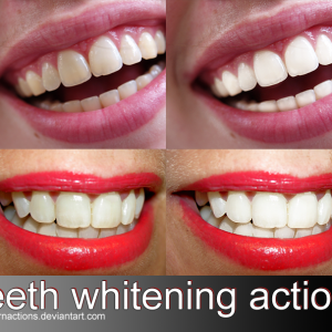 Teeth whitening Photoshop action