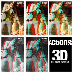 Retro 3d glasses Photoshop Action