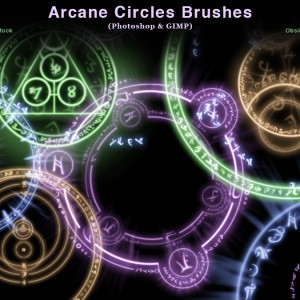 Arcane Circles-Symbols Photoshop and GIMP Brushes