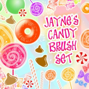 Candy and Sweets Photoshop Brushes