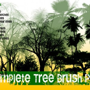 Complete Tree Photoshop Brush Pack