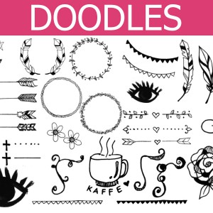 Doodles Photoshop Brush Set