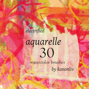 Electrified aquarelle brushes