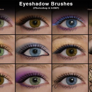 Eyeshadow Photoshop Brushes