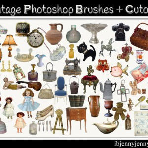 Vintage Photoshop Brushes and Cutouts