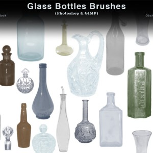 Glass Bottles Photoshop Brushes