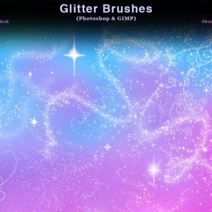 Glitter and Sparkles Photoshop Brushes