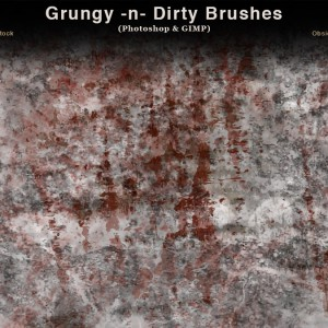 Grungy and Dirty Photoshop Brushes