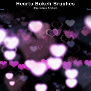 Download Heart Bokeh Photoshop  Brushes