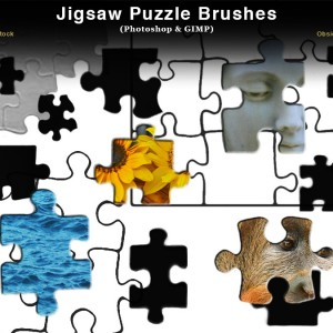 Jigsaw Puzzle Piece Photoshop Brushes