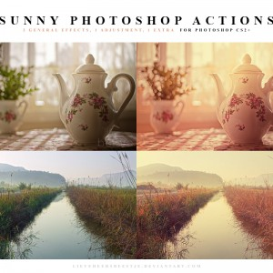 Sunny color Photoshop actions