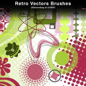 Retro Vectors Photoshop Brushes