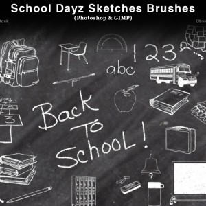 School Dayz Sketches Photoshop Brushes