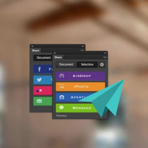 Share your design instantly with Share Photoshop Plugin
