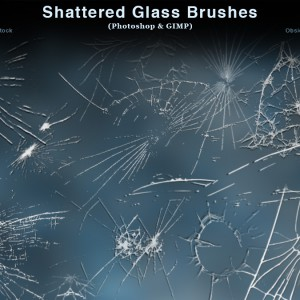 Shattered Glass Photoshop Brushes