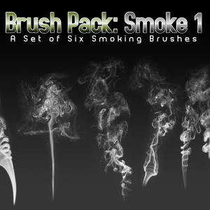 6 smoke Photoshop brushes