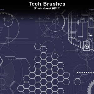 Tech Photoshop Brushes