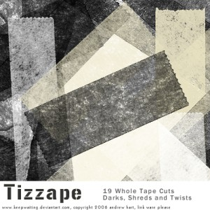 Tizzape Tape Photoshop Brushes