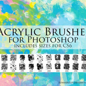 Acrylic Brushes for Photoshop