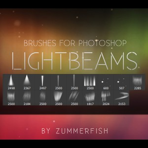 Lightbeams Photoshop Brushes
